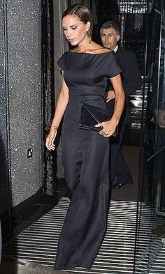 Victoria Beckham wearing Giambattista Valli Jumpsuit.