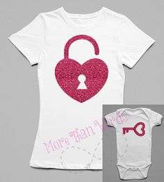 Items similar to Matching Shirts Mother Daughter Father Son Lock and Key Best Friends mommy baby daddy baby matching on Etsy Mother Daughter Shirts, Mother Daughter Matching Outfits, Mothers Day Shirts, Mommy And Me Outfits, Mom Daughter, Matching Family Outfits, Matching Shirts, Father And Son, Mother And Child