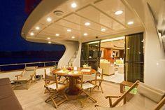 Luxury dinner on a yacht