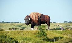 You'd better have Jamestown, North Dakota on your itinerary. It's home to the world's largest buffalo. #Roadtripping #SummerofDoing