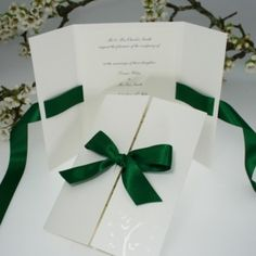 Verona Hunter Green Wedding Invitation Love the simplicity of this! But obviously in our colors!