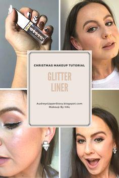 Glitter Makeup Tutorial, Glitter Makeup, Christmas Makeup Tutorial, Holiday Makeup Tutorial