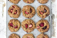 jessica cox | strawberry & brazil nut muffins