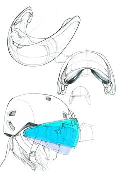 Virtual Reality Head-mounted Display Concept Development Stage. #virtualrealitydesign