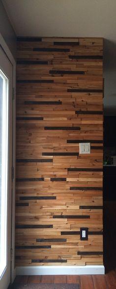Wooden Shim Wall