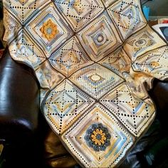 """Granny Squares Afghan """"12 inch Squares"""" free pattern"""