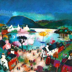 Modern Artist Rob HAIN - Plockton