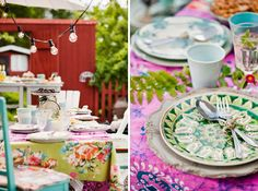 Bright Prints and Patterns | 15 Ideas for Outdoor Dining