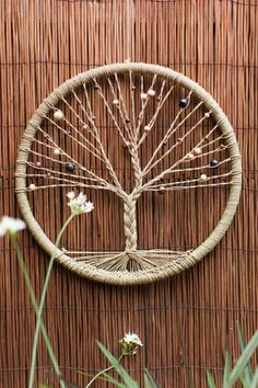 Come to this creative class to create a beautiful Tree of Life Dreamcatcher to c. - Come to this creative class to create a beautiful Tree of Life Dreamcatcher to catch all your dream - Easy Crafts To Make, Fun Crafts, Diy And Crafts, Twine Crafts, Decor Crafts, Holiday Crafts, Art And Craft, Rope Crafts, Simple Crafts