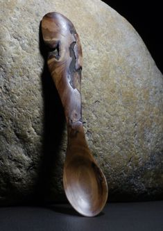 """Mitra"" - Original hand carved smal spoon from Pear wood"