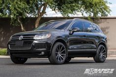 """2013 Volkswagen Touareg with 20"""" Lexani Wheels by Wheel Specialists, Inc. in Tempe AZ . Click to view more photos and mod info."""