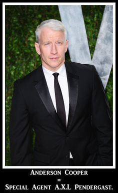 Anderson Cooper as the best FBI agent of all time?? Abso-freaking-lutely! Agent Pendergast would be so proud of me!