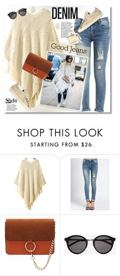 """""""Distressed Denim"""" by svijetlana ❤ liked on Polyvore featuring Yves Saint Laurent, Golden Goose, women's clothing, women, female, woman, misses, juniors, distresseddenim and polyvoreeditorial"""