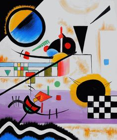 Wassily Kandinsky, by Contrasting Sounds. Wassily Kandinsky, Klimt, Abstract Words, Abstract Art, Picasso, Oil Painting Reproductions, Art Graphique, Russian Art, Art Plastique