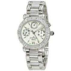 Anne Klein Women's  10-7899MPSV Diamond Accented Multi-Function Silver-Tone Watch (Watch)