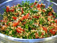 Fresh and Healthy Mediterranean Salad Recipe Called Either Tabbouleh, Tabouli Including Bulgar Wheat - Bulgur Salad Tabouli Salad Recipe, Salad Recipes, Quinoa Tabbouleh, Quinoa Salad, Lebanese Recipes, Vegetarian Recipes, Cooking Recipes, Healthy Recipes, Mediterranean Salad Recipe