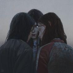 """Graeae"" Digital Painting http://www.yurishwedoff.gallery #Art #DigitalArt #Illustration"
