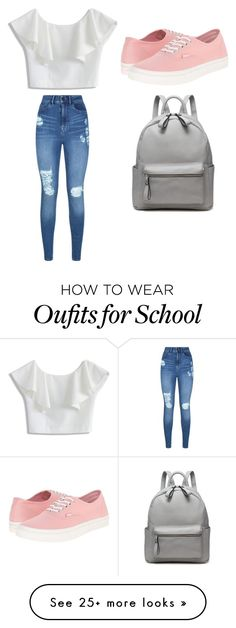"""School Girl"" by naomibabe on Polyvore featuring Chicwish, Lipsy and Vans"