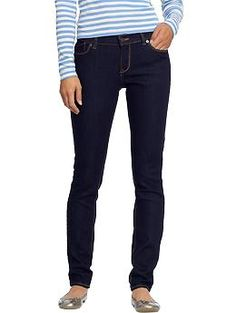 Love the really dark jeans for Fall.  Women's The Flirt Skinny Jeans | Old Navy