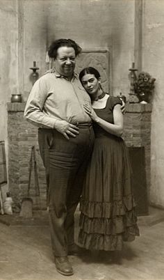 Frida Kahlo and Diego Rivera, 1931, Paul A. Juley, photographer. Chester Dale papers, Archives of American Art, Smithsonian Institution.