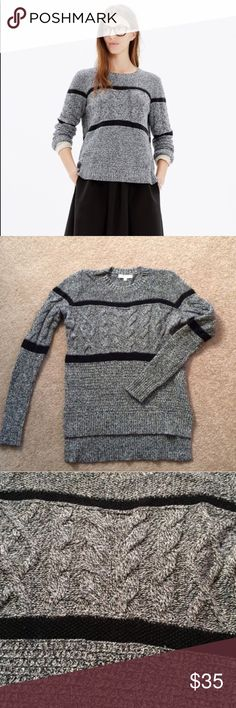 Madewell Cable Knit Sweater Great condition very warm Madewell Sweaters Crew & Scoop Necks