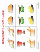This Thanksgiving memory game challenges kids to choose matching holiday-themed images. Play a tasty round or two of this Thanksgiving memor...