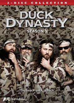 SEASON 3 DUCK DYNASTY The Robertsons have quickly become America's favorite backwoods family. This close-knit clan has made a fortune selling duck calls. Willie Robertson, Robertson Family, Duck Season, Season 3, Duck Dynasty, Alex Michael, Christian Films, Duck Calls, Duck Commander
