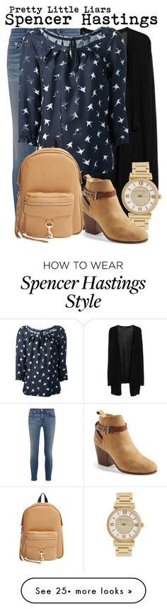 """Pretty Little Liars- Spencer Hastings"" by darcy-watson on Polyvore featuring MANGO, rag & bone, Michael Kors, Nina Ricci and Rebecca Minkoff"
