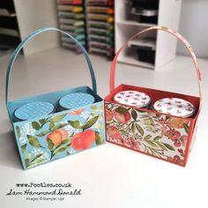 Peach Basket, Diy Paper, Paper Crafts, Basket Crafts, 3d Craft, Jam Jar, Punch Board, Paper Packaging, Decorated Jars