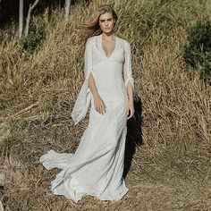 Fresh off our instagram feed: 🌙🌟Woodrose Gown featured over on the @hellomaymagazine blog. The beautiful @laurabellaevans was photographed on location in Byron Bay by @matt_godkin with hair and makeup by the ever so talented @spicymelons. XXX follow us on instagram @my-best-friends-wedding  See more unique wedding photos & ideas + shop the looks at: www.my-best-friends-wedding.com