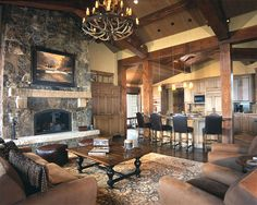 Kelly & Stone Architects | Priest Creek Residence Gallery | Rustic Great Room