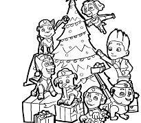 Paw Patrol Decorate The Christmas Tree Coloring Christmas Tree