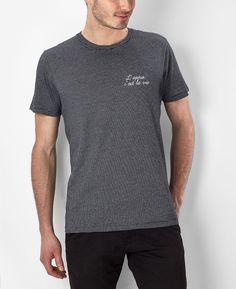Tee-shirt Homme Brodé l'Apéro c'est la vie Bleu marine by Monsieur TSHIRT