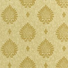 Bellezza #wallpaper in #metallic on #sage from the Damask Resource vol. 2 collection. #Thibaut