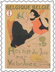 Postzegel: Henri de Toulouse-Lautrec: Reine de Joie (België) (Henri de Toulouse-Lautrec) Mi:BE 4195,Yt:BE 4130,Bel:BE 4149