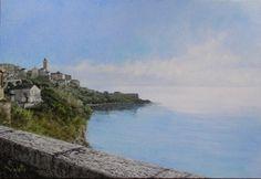 Bastia - huile sur toile