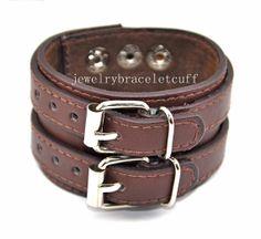 gift jewelry leather bracelet girl bracelet men bracelet women bracelet metal bracelet with leather and metal  SH-0778