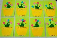 Cute handprint flower pot craft for kids. Flower Pot Crafts, Flower Pots, Flowers, Mothers Day Crafts, Crafts For Kids, Preschool Ideas, Teaching Ideas, Projects, Blog