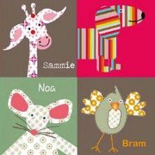 Originele, bijzondere en kleurrijke geboortekaartjes van ZotteZOO   Babystuf