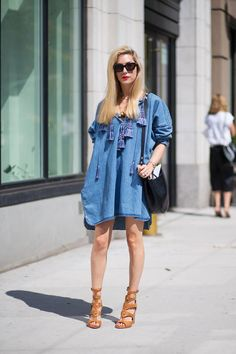 Joanna Hillman sporting best street style during #NYFW today. See more here: