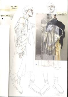 Fashion Sketchbook - fashion drawings; fashion collage; fashion portfolio // Irina Tsoy