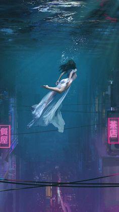 Underwater City Mermaid IPhone Wallpaper - IPhone Wallpapers