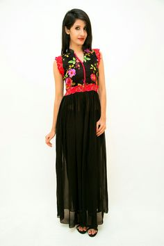 This charming floral dress will look adorable on you #Tahilyani  Wholesale enquiry-9549977000