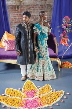 Brooklyn Meets Bollywood in this Vibrant Editorial Shoot by Kaylabelle Events Mixed Couples, Cute Couples, Interracial Family, Interracial Marriage, Interacial Couples, Tanzania, Kenya, Romance, Beautiful Couple