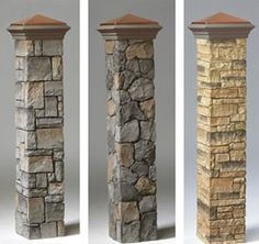 Decorative Stone Post Covers By Deckorators
