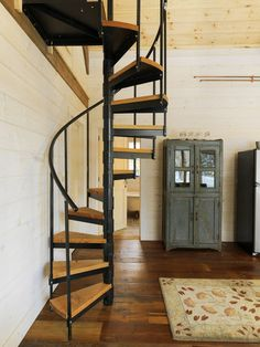 Winter Cabin, Eclectic Staircase, Burlington