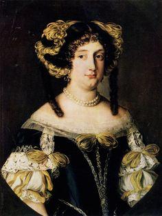 JACOB FERDINAND VOET. 1639 - ca. 1700 Portrait of Marie Virginie Borghese-Chigi, Princess Farnese. 1670s