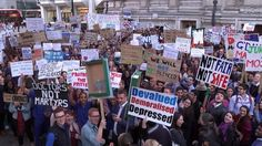 Junior doctors protesting against the changes to contracts