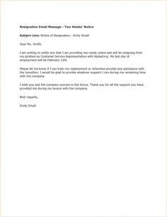 14 best Resignation letter images on Pinterest | Interview, Resume ...