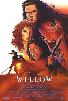 Willow - one sheet poster - USA - Ron Howard - Warwick David - Val Kilmer - John Alvin artwork Val Kilmer, Ron Howard, 80s Movies, Great Movies, Excellent Movies, Childhood Movies, Cult Movies, Comedy Movies, Watch Movies